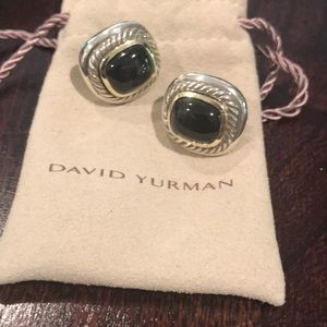 David Yurman Albion SS/18KYG Black Onyx Earrings